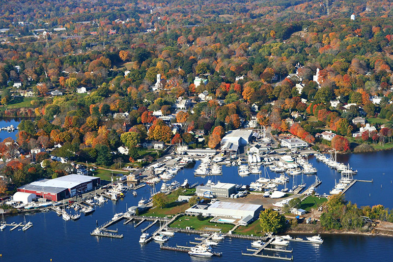 Essex CT, home port of Essex Yacht Sales