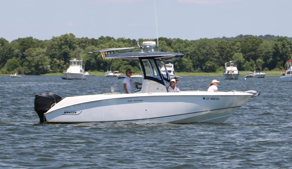 Boston Whaler 24 Outrage purchased through Essex Yacht Sales