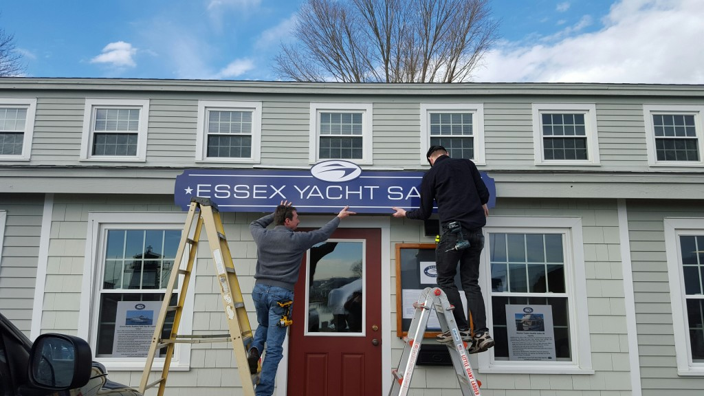 New sign at Essex Yacht Sales